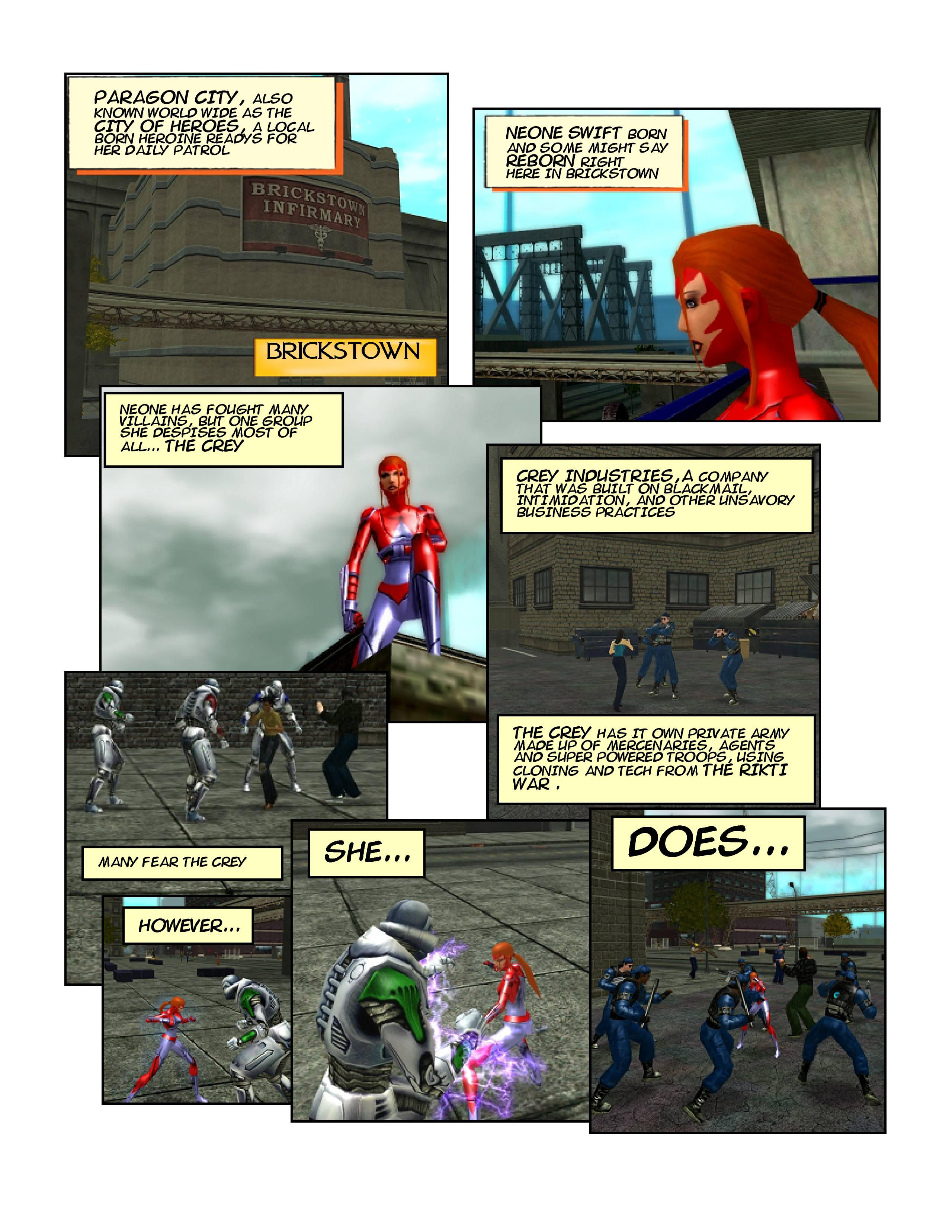 Neone Swift comic page one by NeoSaturn69