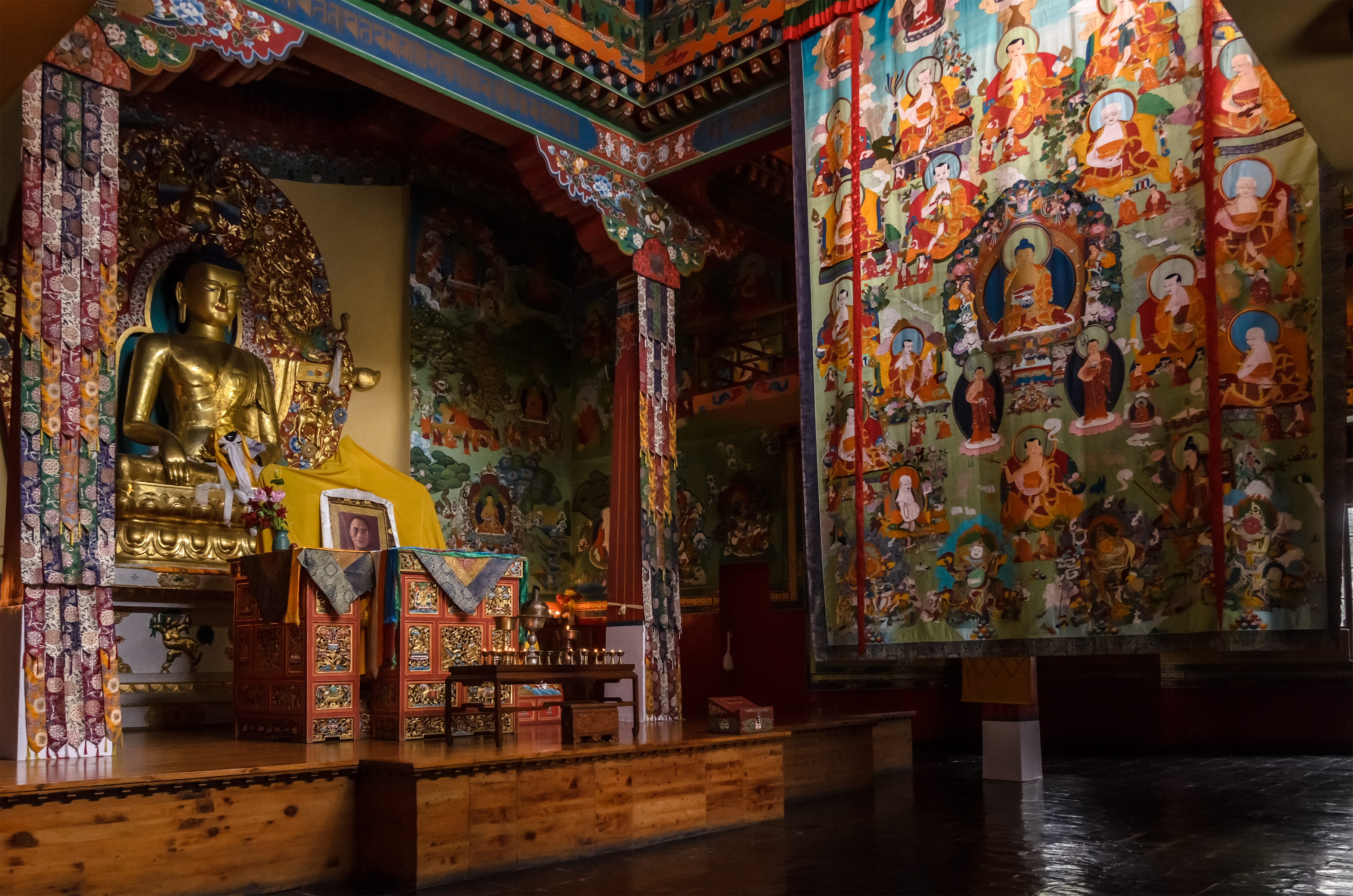 Tibetan Buddhist temple (Norbulingka) by NorthBlue on ...