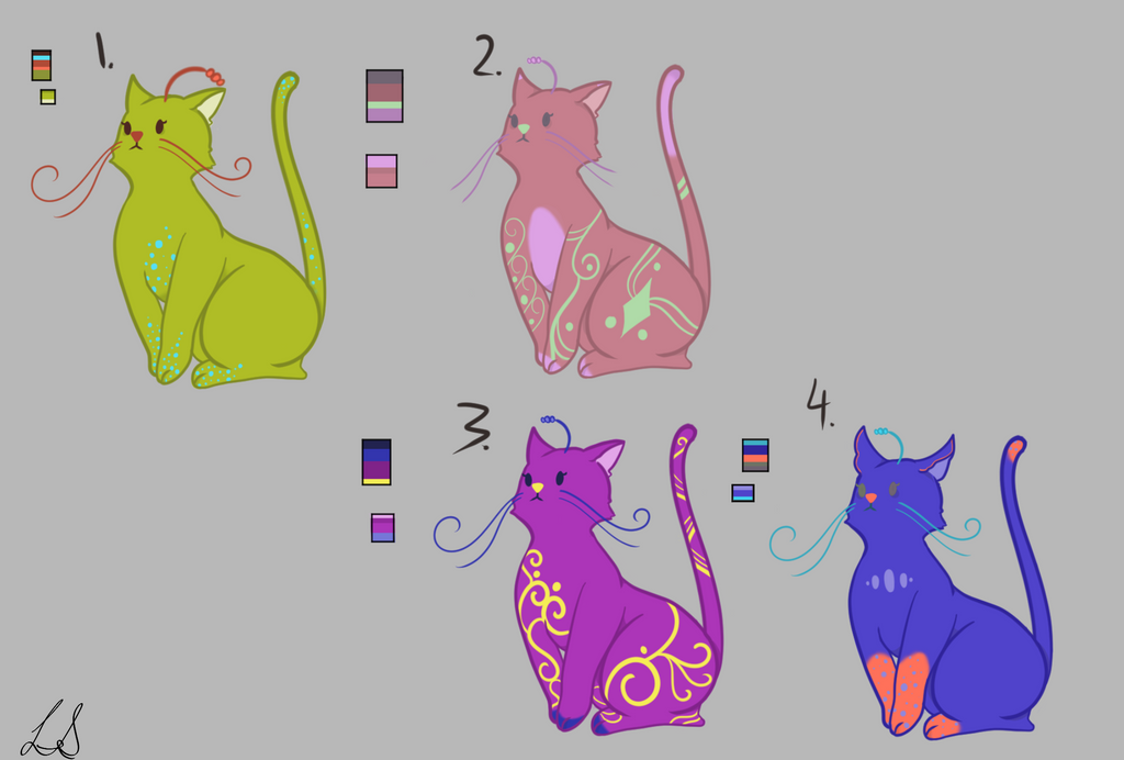 Adoptables-LanternCats(OPEN) by VaeSao-Smiles