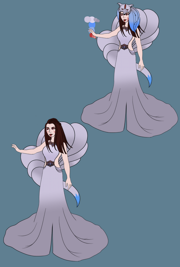 Shiny Ninetails Commission by VaeSao-Smiles