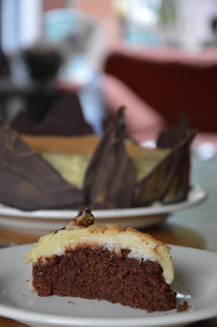 Vegan Chocolate cake by PumpkinPhotography