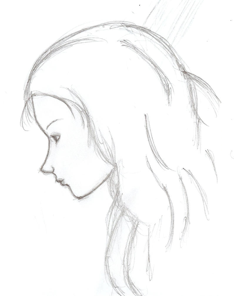 Line Drawing Of Face Profile : Female profile sketch by legnome on deviantart