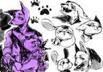 Furry doodles : D by cchuu
