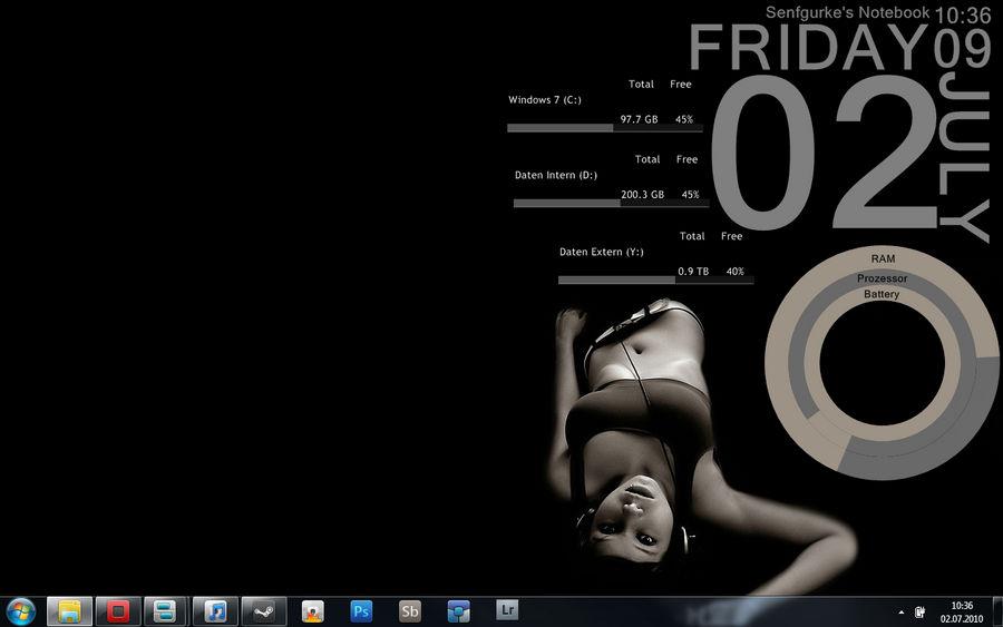 Desktop with rainmeter
