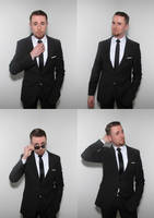 Black suit and tie