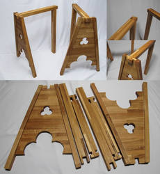 Gothic table tripods