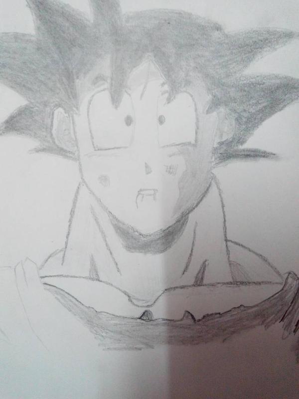Battered Goku by dicktator05