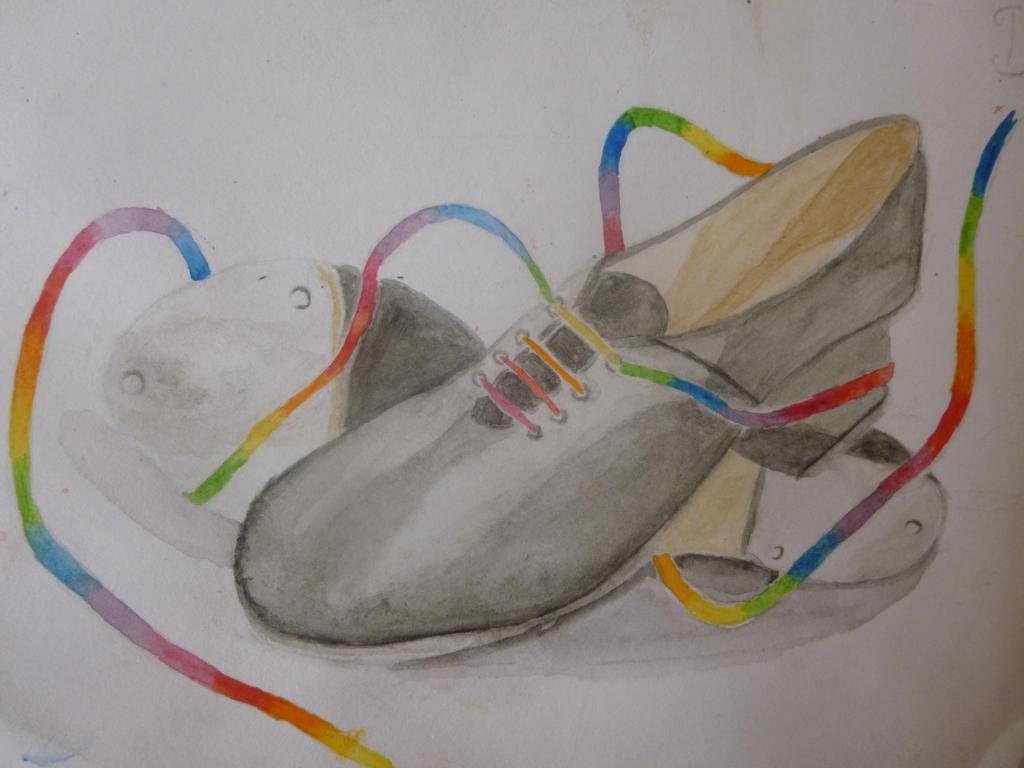 Rainbow feet by EmmaAuditore