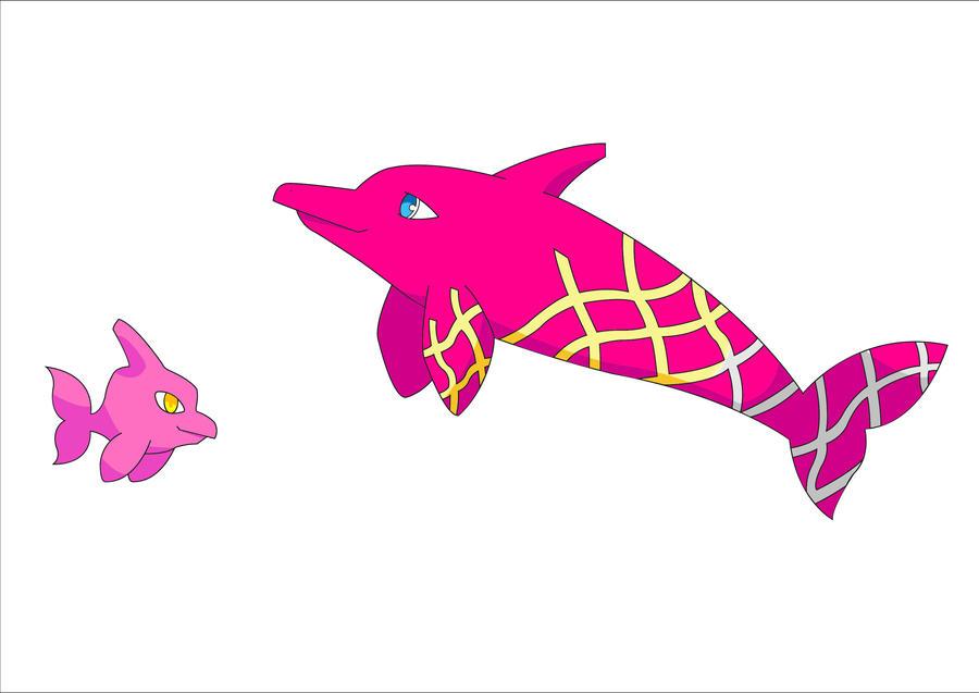 Pink Dolphin Pokemon By Ricardojorgefla On Deviantart
