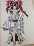 My Oc Yuka's new  geisha  design. by himegirl15
