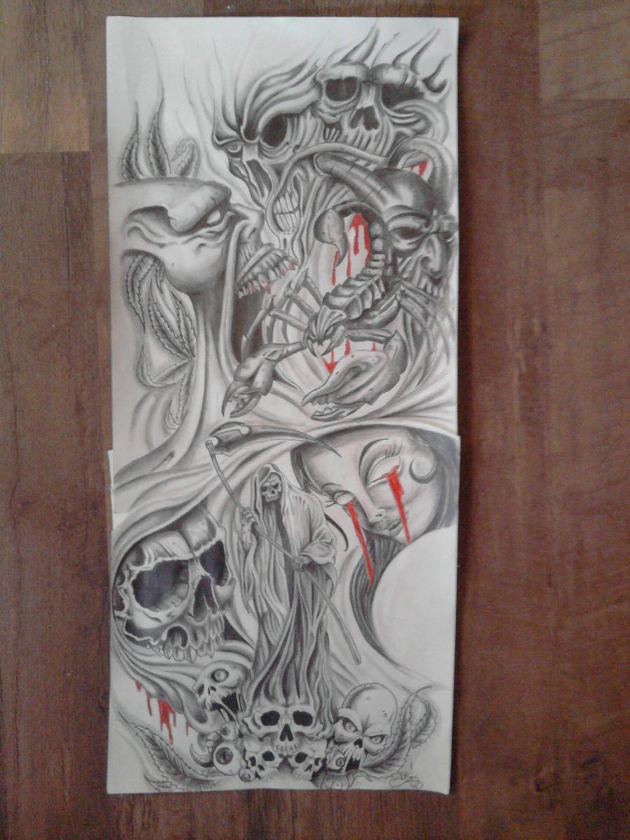 Tattoo Sleeve Design Artwork: Sleeve Design By Karlinoboy On DeviantArt