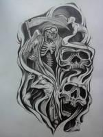 half sleeve tattoo design by karlinoboy