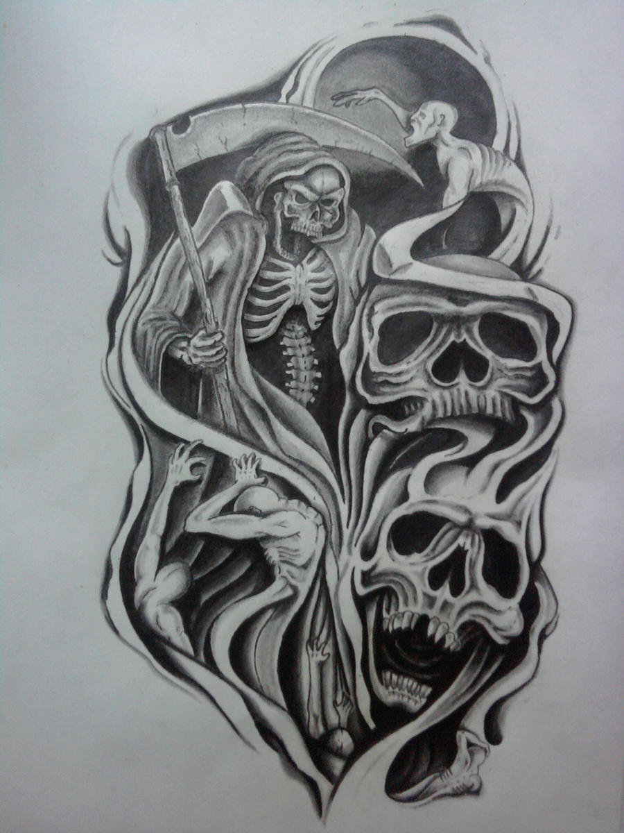 half sleeve tattoo design by karlinoboy on DeviantArt