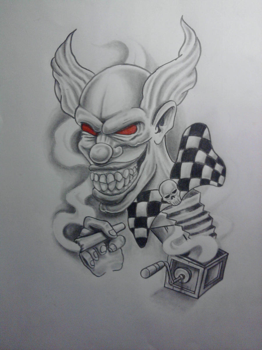 The gallery for --> Evil Gangster Clown Drawings