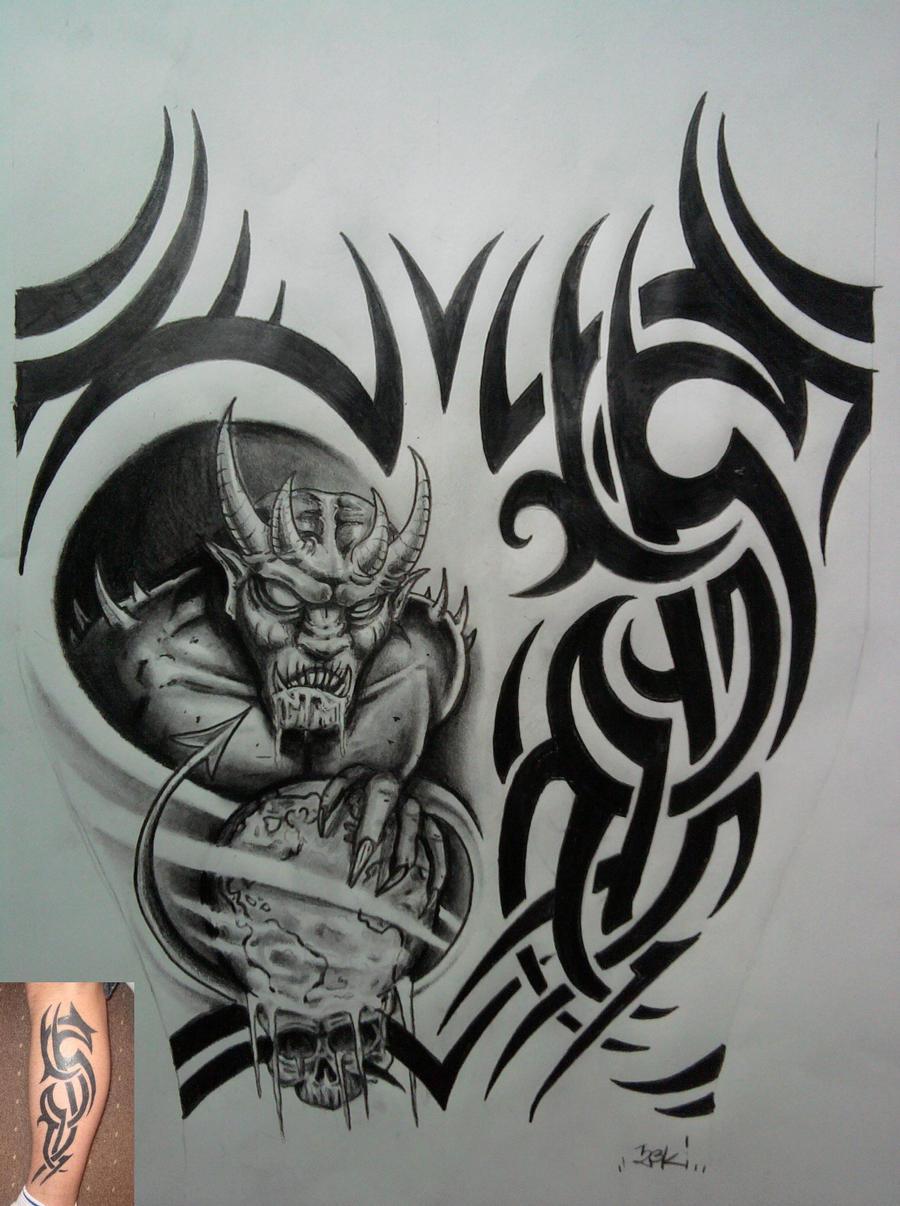 devil tribal by karlinoboy on DeviantArt