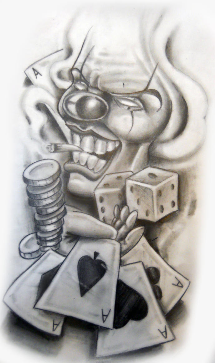 Famous chicano art drawings clowns for Chicano tattoo art