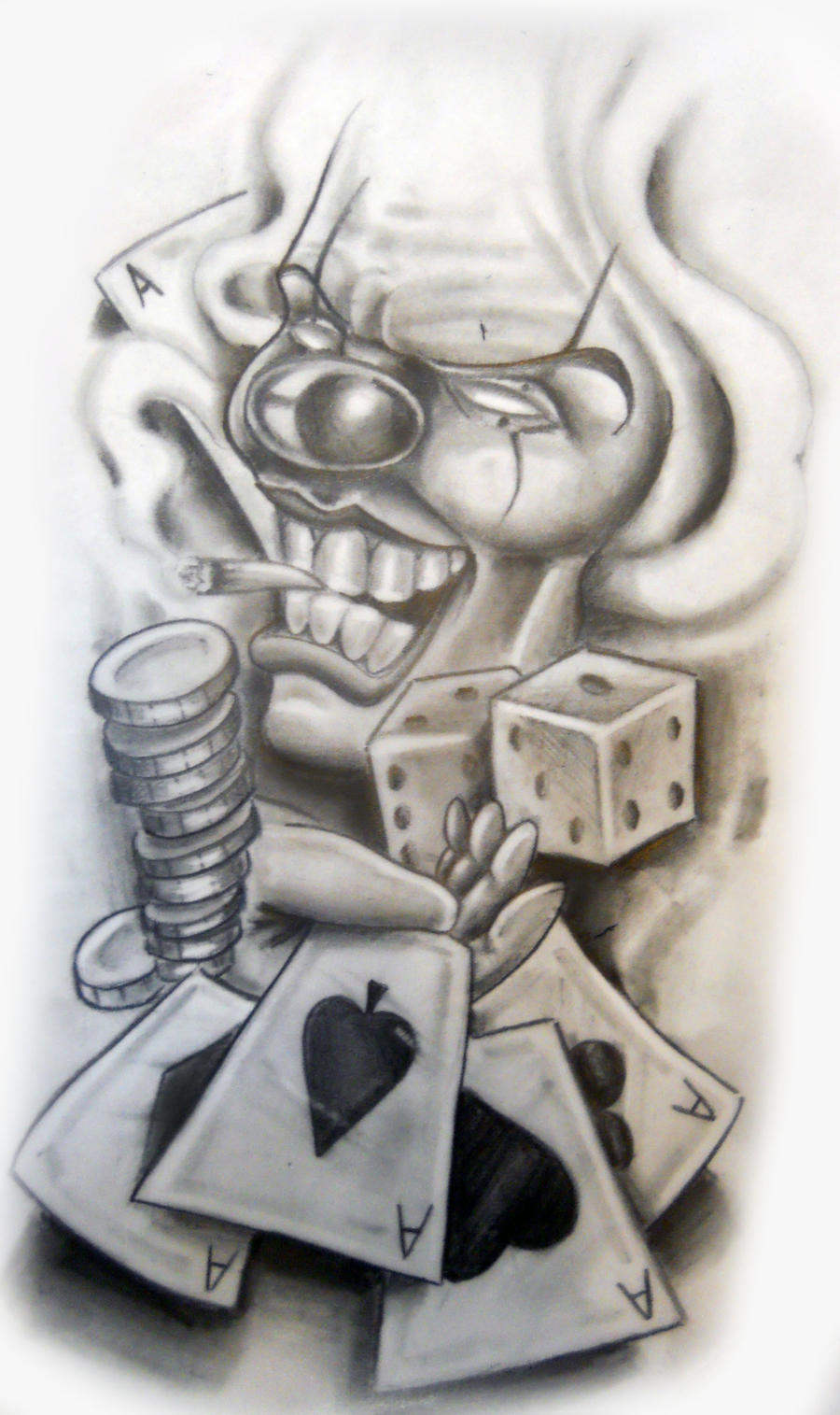Gangster tattoo drawings