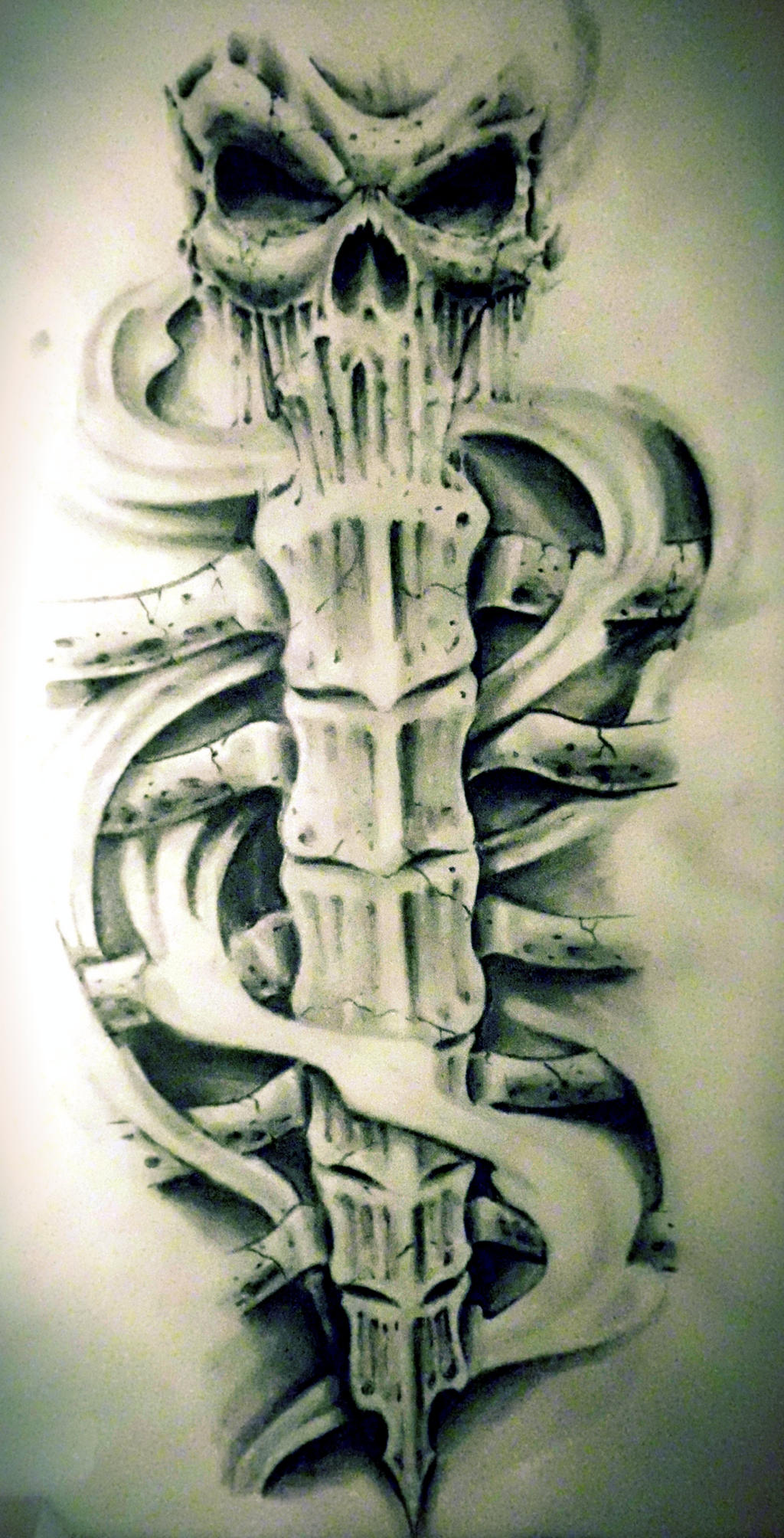 shin tattoo design by karlinoboy
