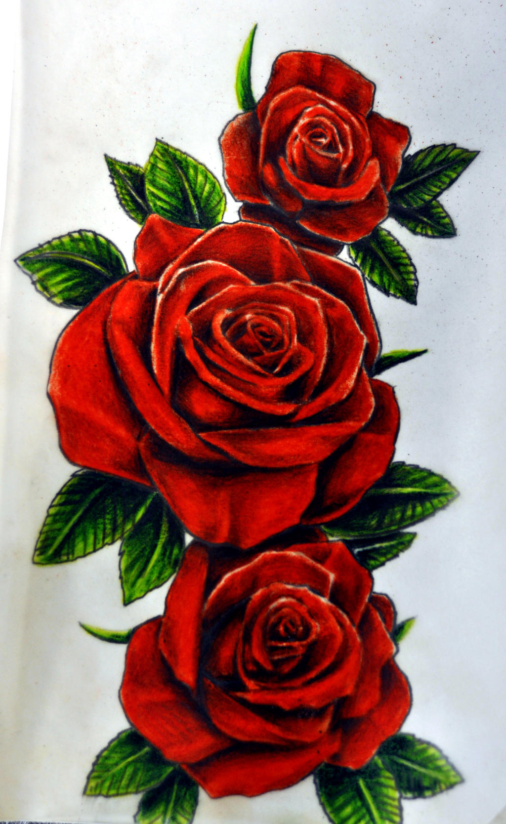 Rose With Banner Tattoo Designs