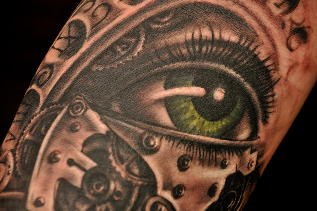 Eye clock detail by karlinoboy on deviantart for Eye with clock tattoo