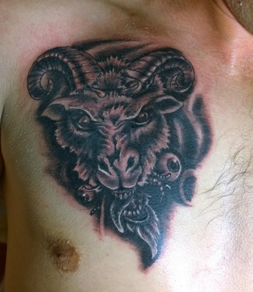 Evil goat tattoo - photo#20