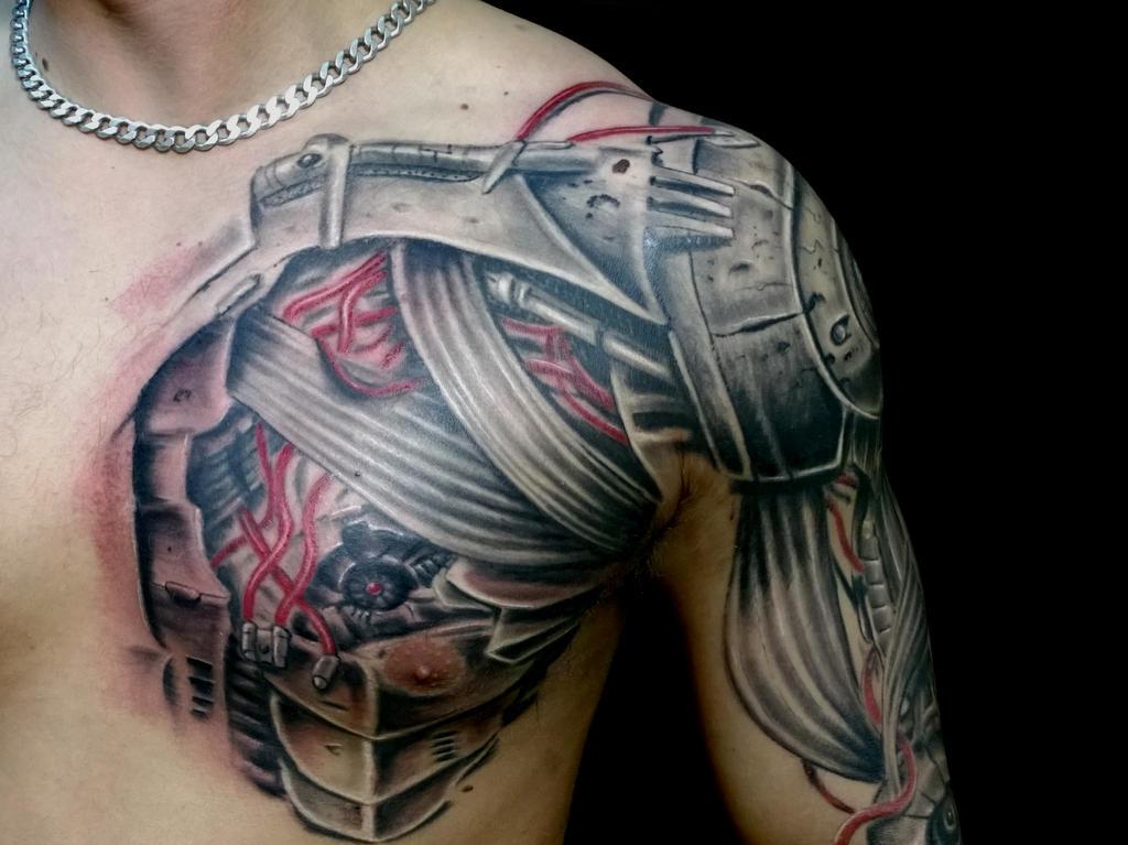 Robot Arm Tattoo Half Sleeve Traffic Club