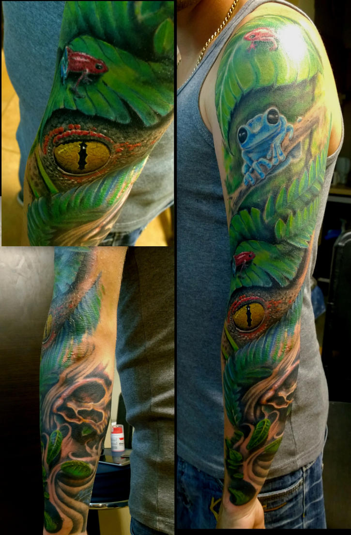 jungle sleeve by karlinoboy on deviantart