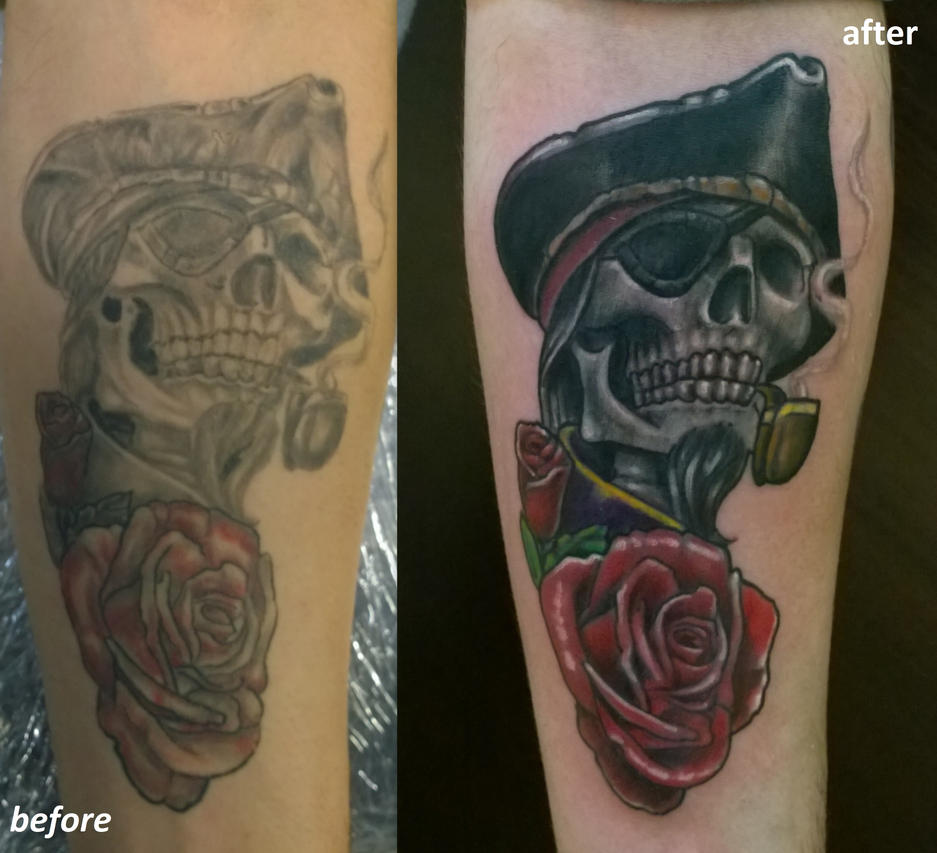 pirat skull cover by karlinoboy