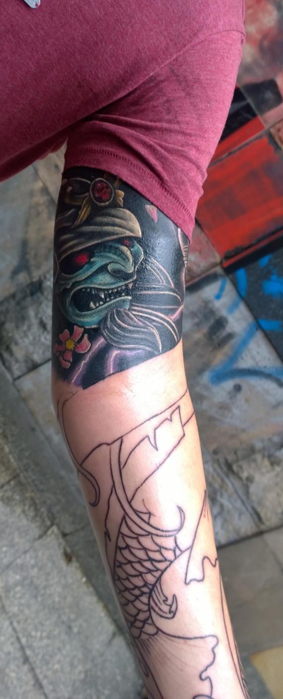 sleeve in progress by karlinoboy
