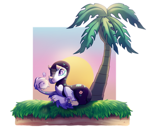 Tropical Spring: Egg hunt entry 1 by AngryMothNoises