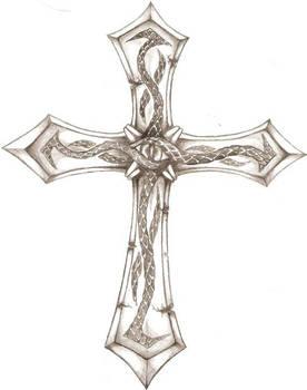 Crucifix Tattoo design 1