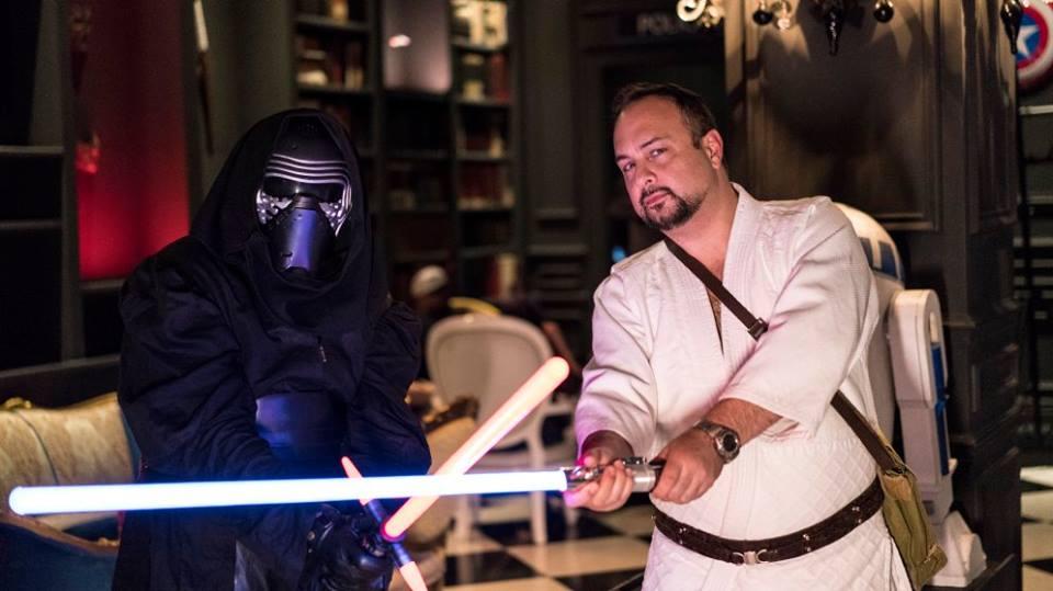 Kylo Ren versus Luke Skywalker by CosplayWithCaptMal