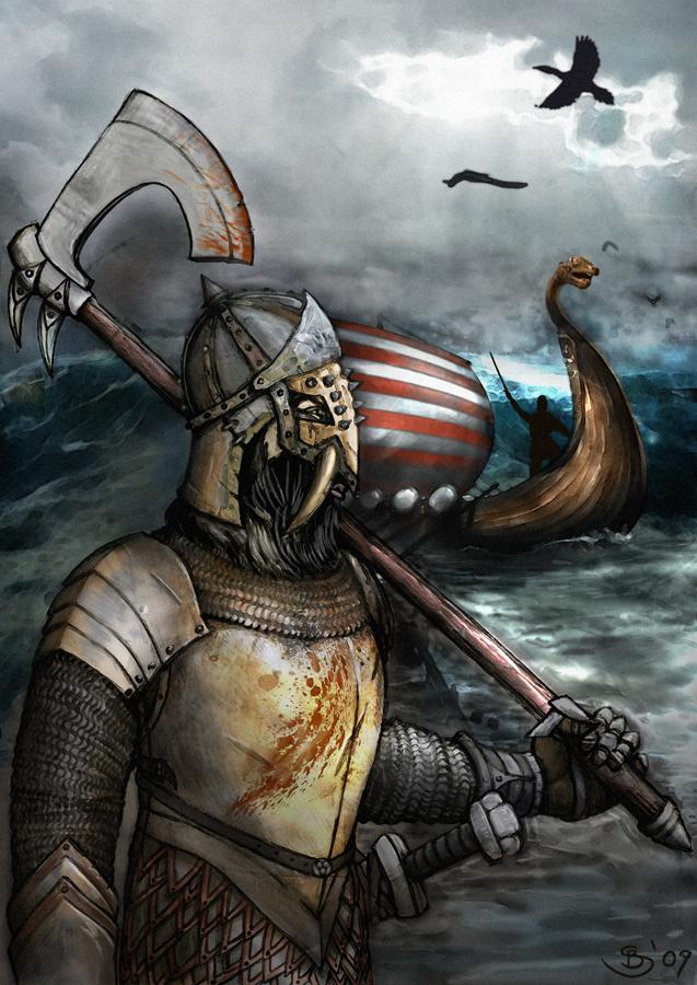 Viking Raiders Landing by Buashei