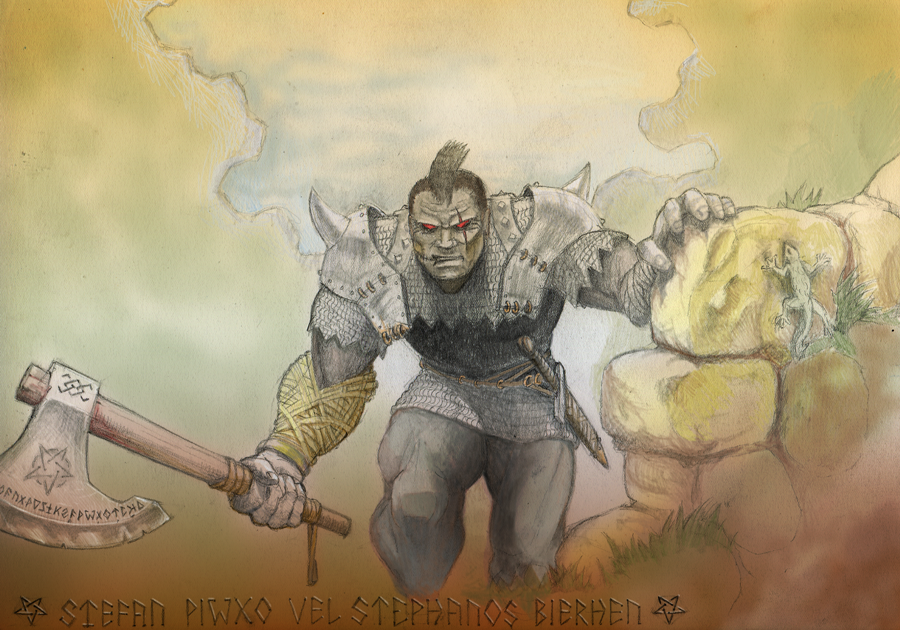 Ogre mercenary by Buashei
