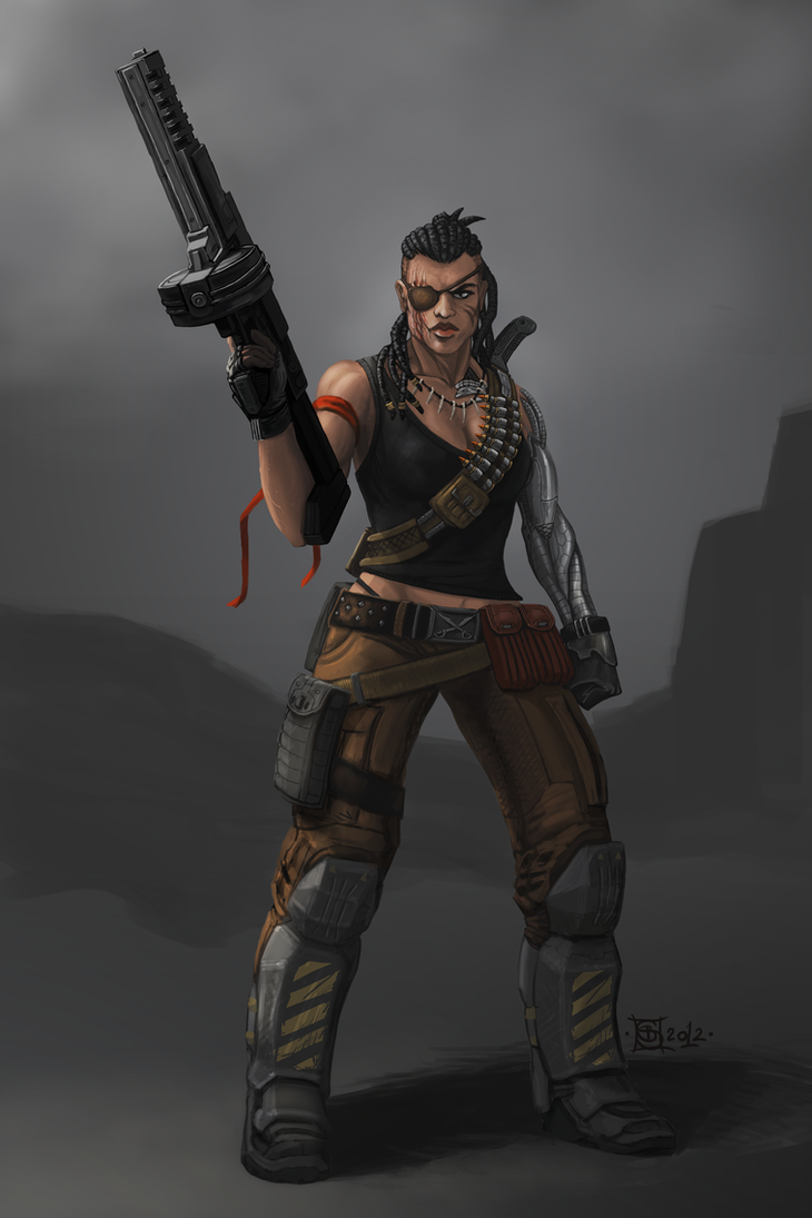 Female Mercenary Riva by Buashei on DeviantArt