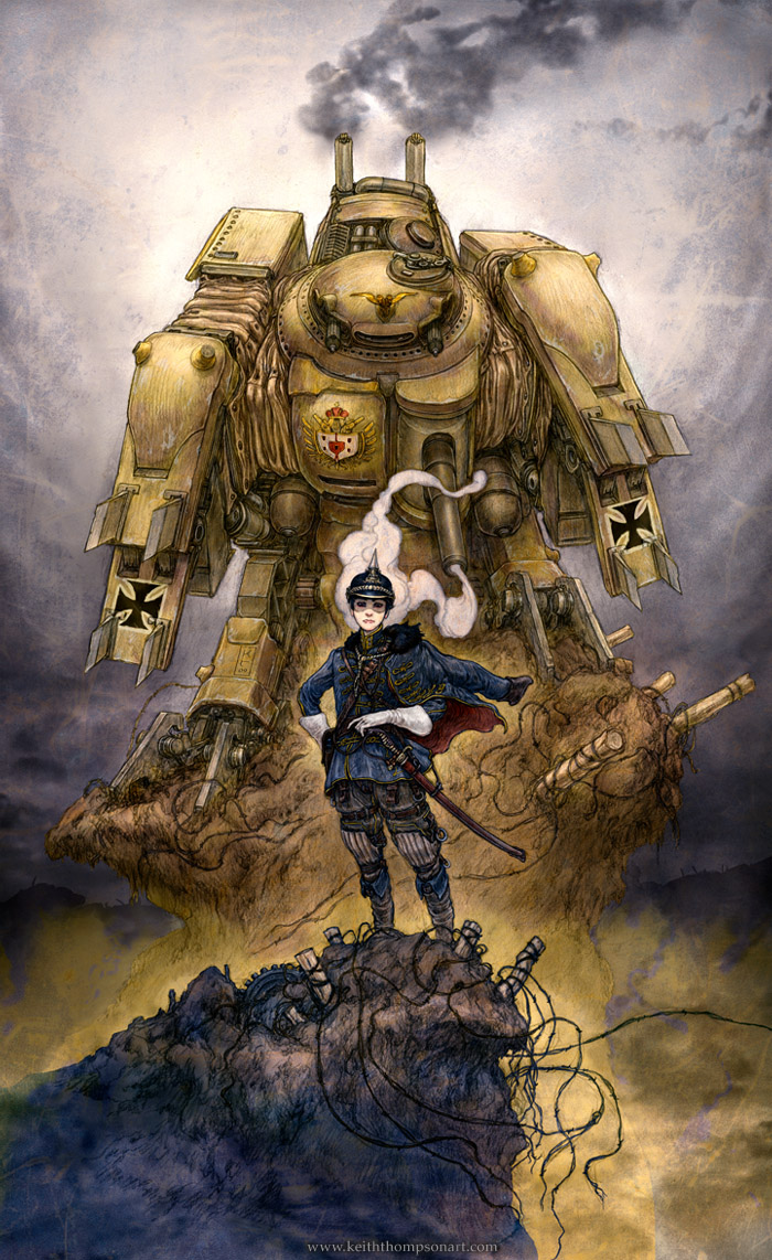 Alek and his Stormwalker by Keithwormwood