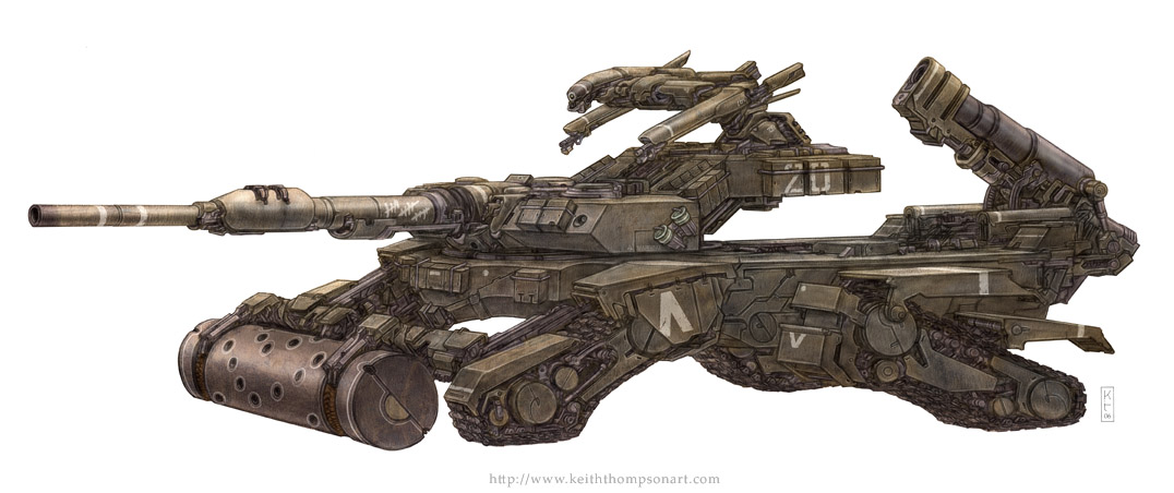 T10 Charioteer Tank by Keithwormwood