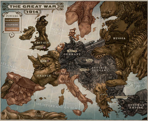 Caricature Map of Europe 1914