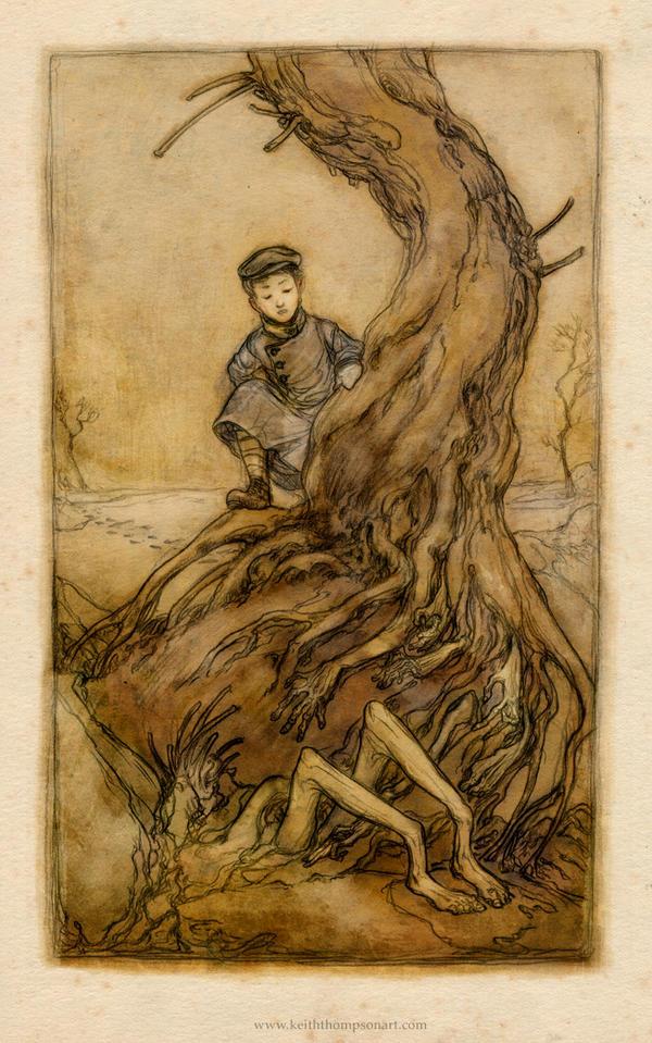 Blackwood print 1 by Keithwormwood