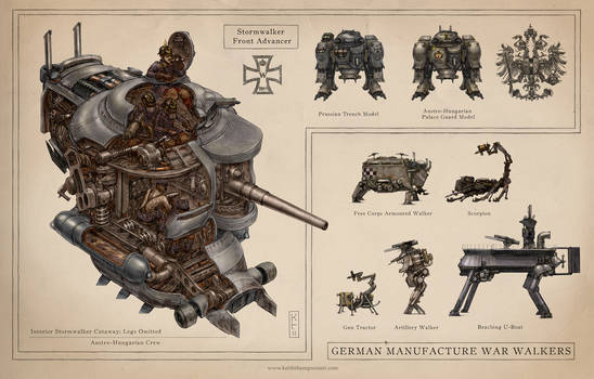 German War Walkers by Keithwormwood