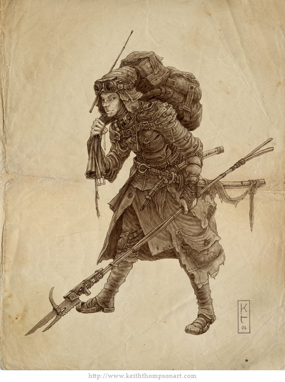 Character Design Techniques Keith Thompson : Scavenger by keithwormwood on deviantart