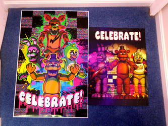 Five Nights at Freddy's Celebrate Posters