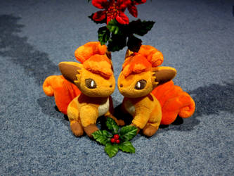 Vulpix Under the Mistletoe ~3 by gold94chica