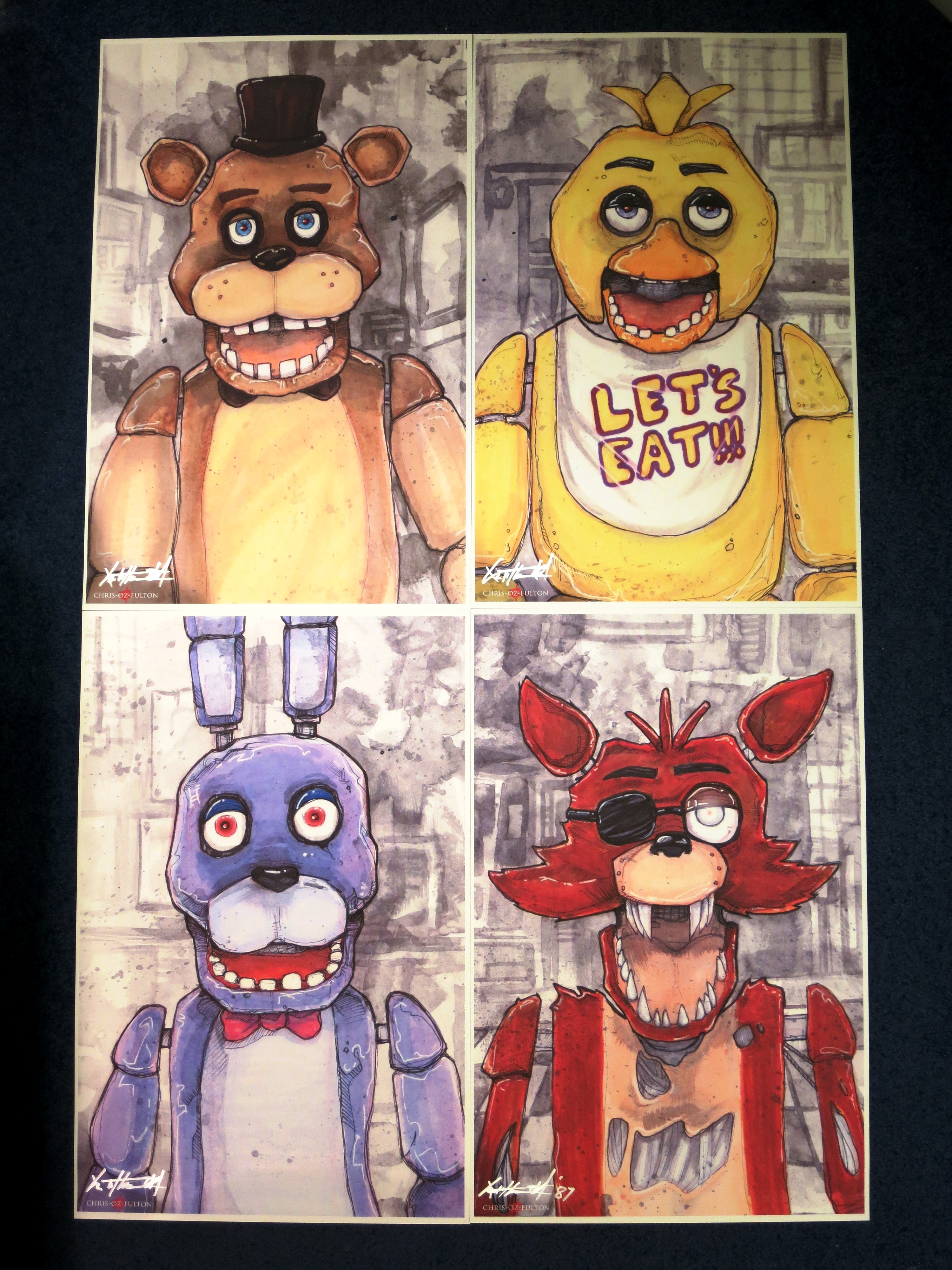 five nights at freddy u0027s artwork by chris oz fulton by gold94chica