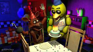 Happy Birthday Foxy!!  (SFM Wallpaper)