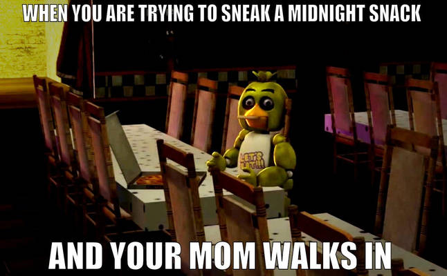 When you are trying to sneak a midnight snack Meme