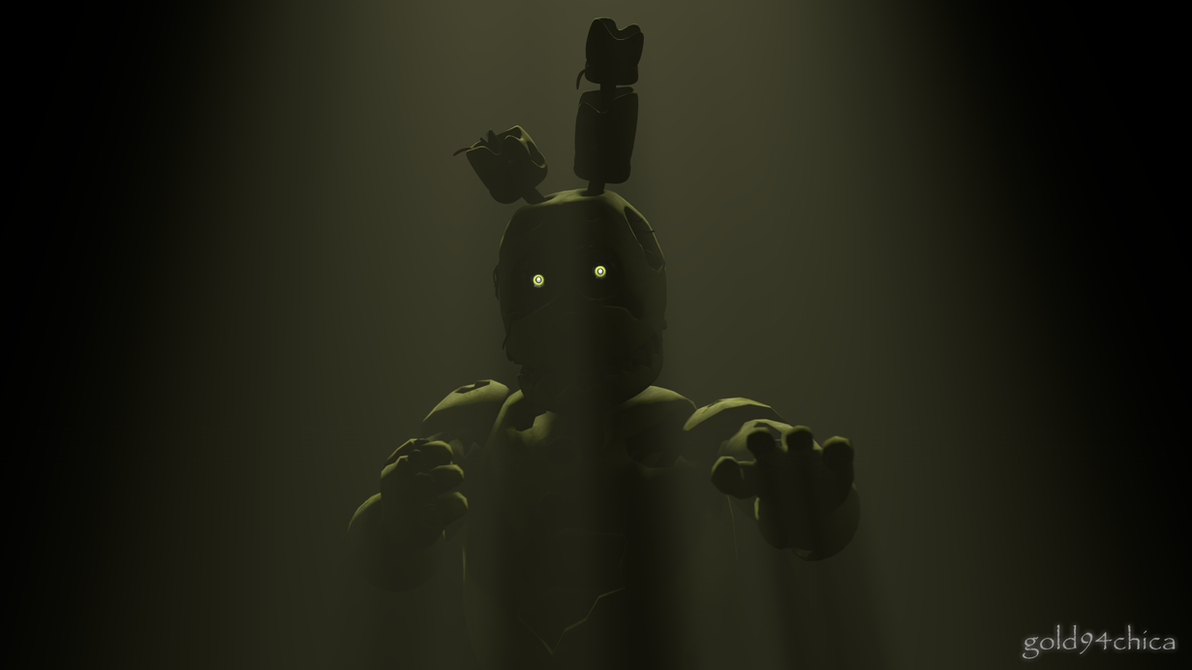 Springtrap is ready and waiting sfm wallpaper by gold94chica on