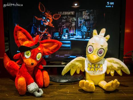 Foxy + Chica FNAF Custom Plushies!