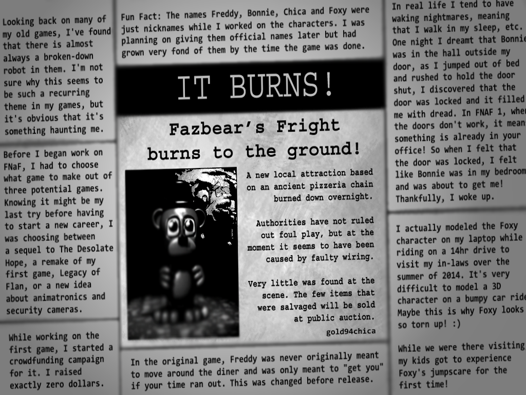 I Re Wrote The Ending Newspaper For Fnaf3 By Gold94chica On Deviantart