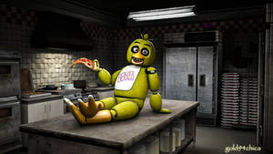 Welcome to my Kitchen! (Chica SFM Wallpaper)